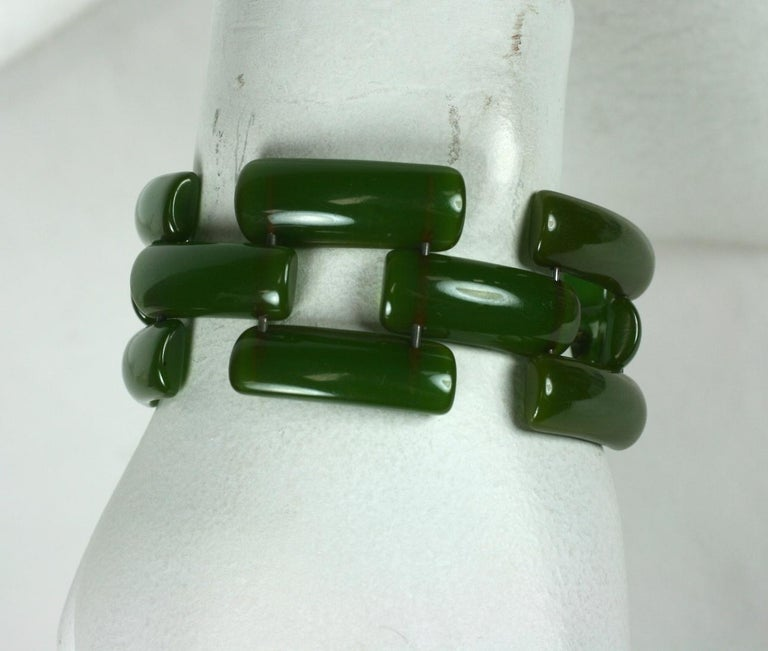 Art Deco Bakelite Link Bracelet For Sale 4