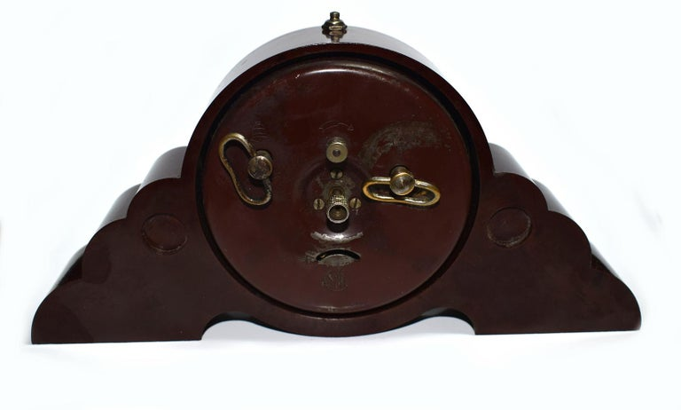20th Century Art Deco Bakelite Odeon Clock by JAZ For Sale