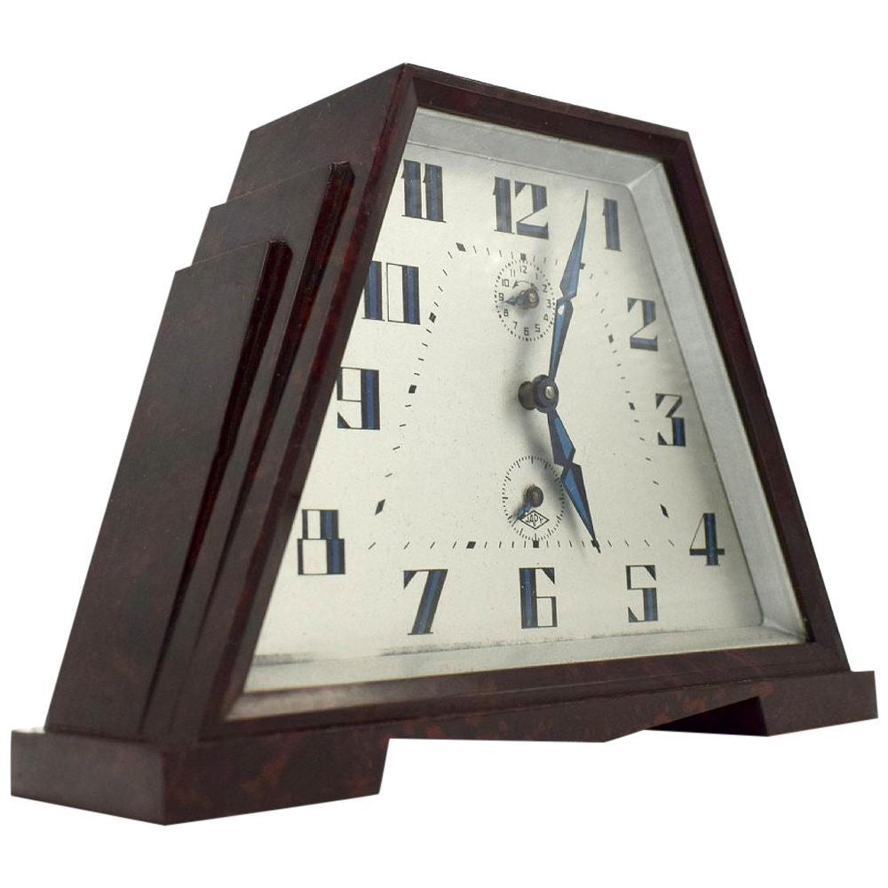 Art Deco Bakelite Skyscraper Alarm Clock by Japy of France, circa 1930