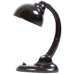 Art Deco Bakelite Streamline Desk Lamp by E. Cole