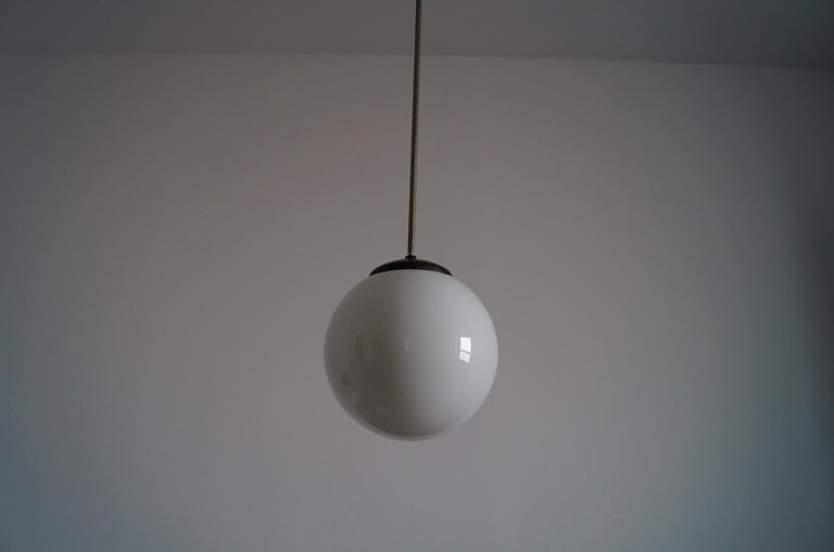 Art Deco ball lamp from 1940  Highly recommended item will be perfect complementation of the rooms in not only Classic style, but also Art Deco and modern.   Dimensions: Diameter 24 cm Height 120 cm.