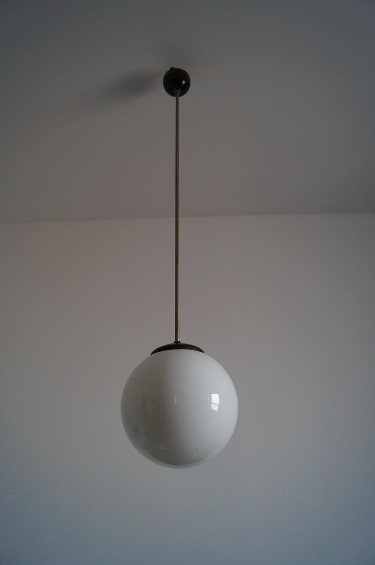 Polish Art Deco Ball Lamp from 1940 For Sale