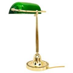Art Deco Banker Lamp Vienna, 1920s