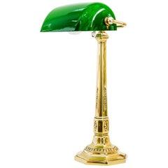 Art Deco Banker Lamp Vienna Around 1920s