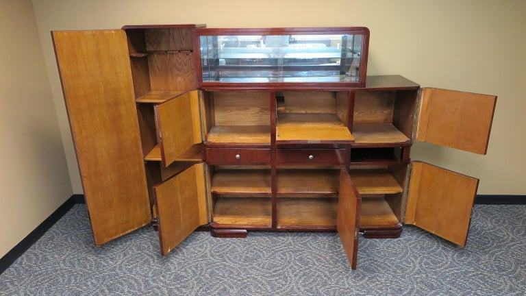 American Art Deco Bar Cabinet For Sale