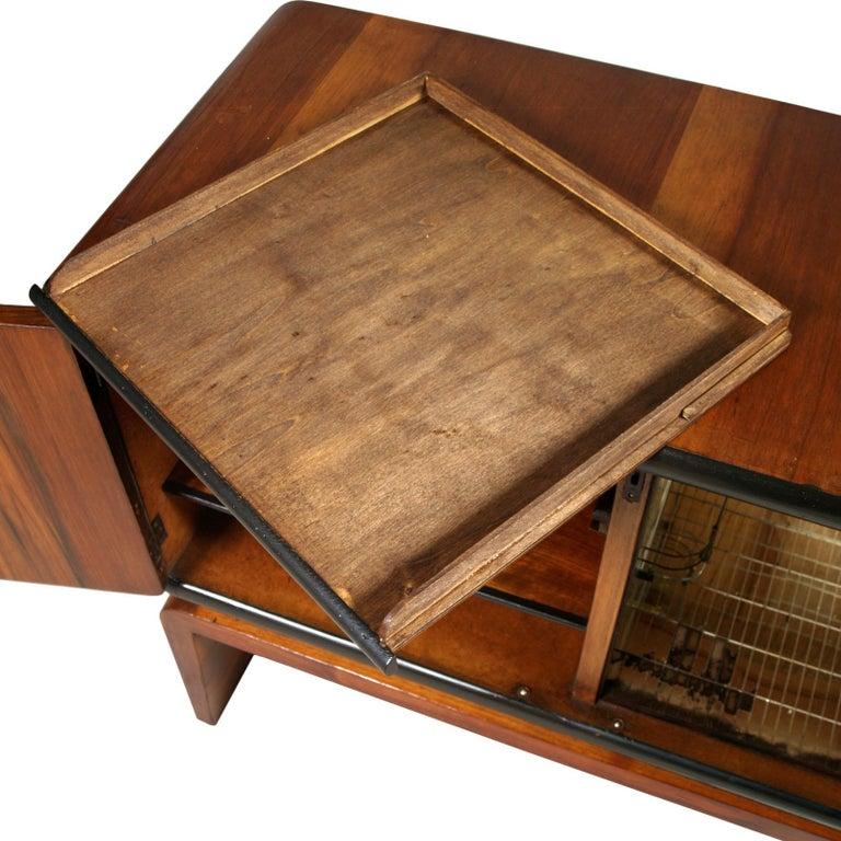 Art Deco Bar Cabinet in Burl Walnut, Guglielmo Urlich Attributed, circa 1930 For Sale 4
