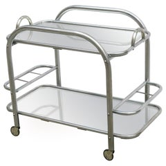 Art Deco Bar Cart With Removable Tray