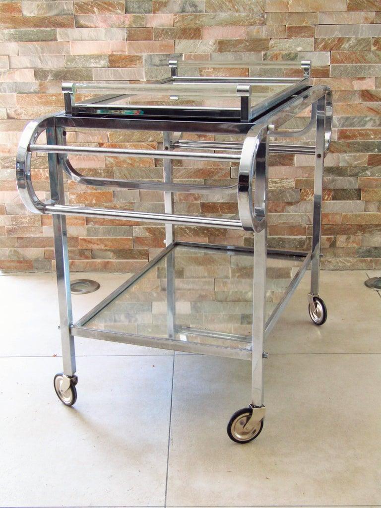 Art Deco Bar Cart, France, 1935 8
