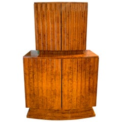 Art Deco Bar or Drinks Cabinet, Ash Veneer, England, circa 1930