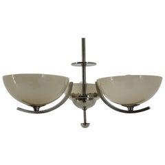 Art Deco Bauhaus Chrome Pendant, 1930s