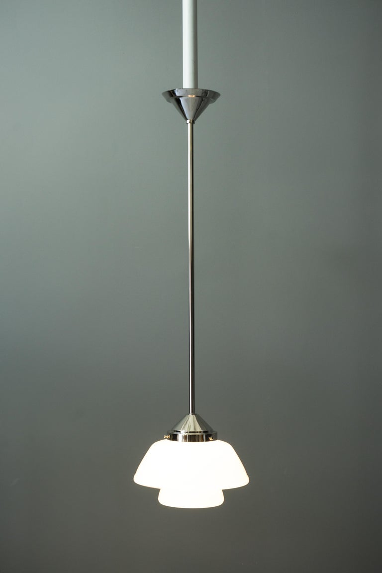 Art Deco Bauhaus Pendant Nickel-Plated Germany, circa 1920s For Sale 6