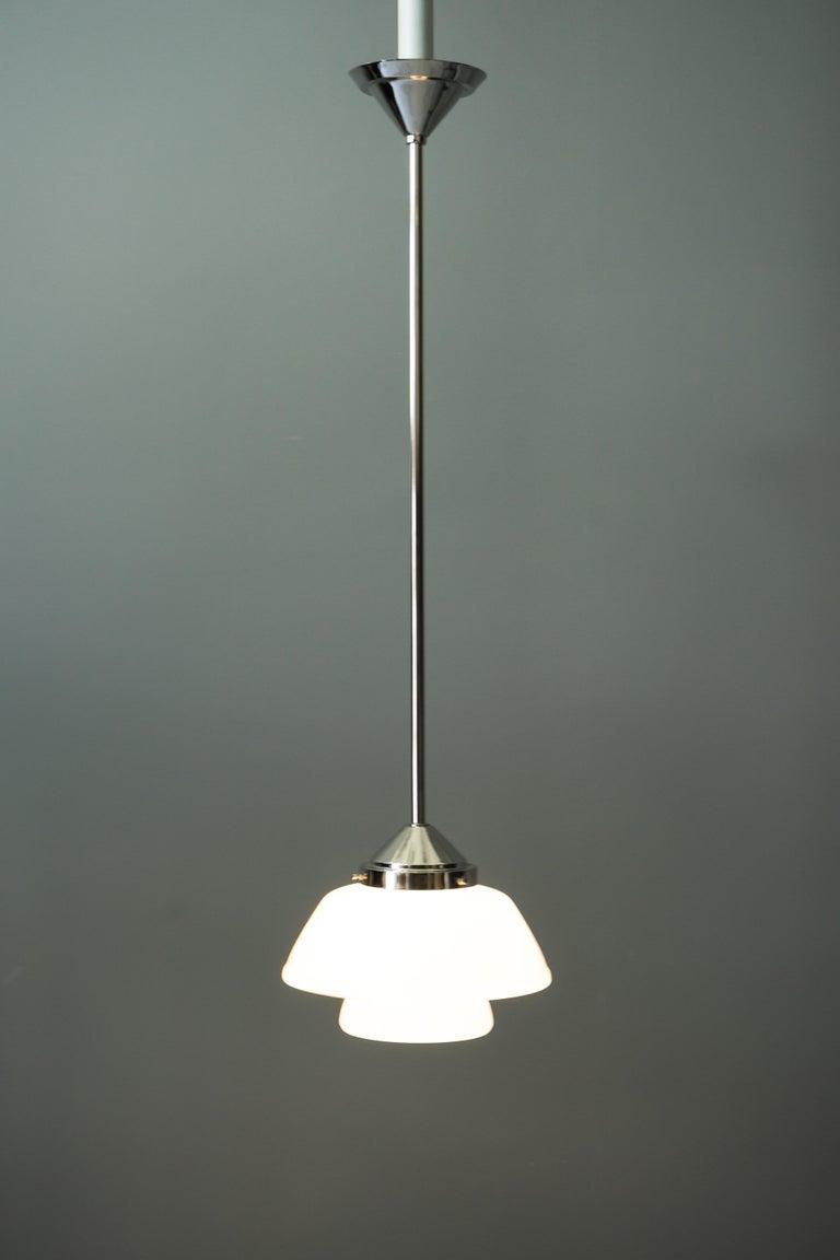 Art Deco Bauhaus Pendant Nickel-Plated Germany, circa 1920s For Sale 7