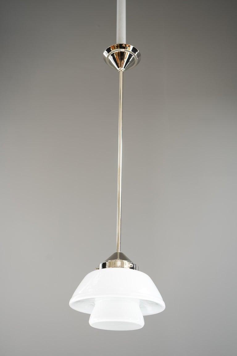 Art Deco Bauhaus Pendant Nickel-Plated Germany, circa 1920s For Sale 4