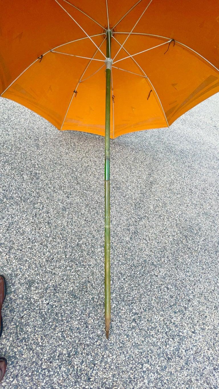 Art Deco Beach Umbrella with Steam Ship Motif For Sale 6