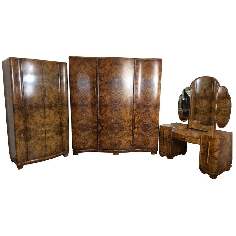 Art Deco Bedroom Suite For