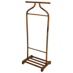 Art Deco Beech Brown Vintage Valet or Coat Rack by Thonet Austria, circa 1920
