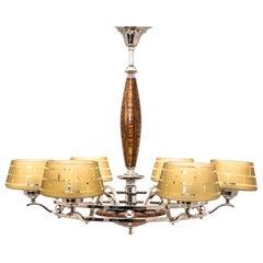Art Deco Beige Chandelier Ceiling Lamp