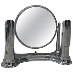 "Art Deco ""Bel-Ayre"" Chrome Plate Vanity Table Top Mirror, circa 1930"