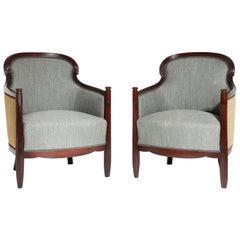 Art Deco Bergère Chairs, France, circa 1920