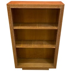 Art Deco Bibus Library in Ceruse Oak, Signed, circa 1940-1950
