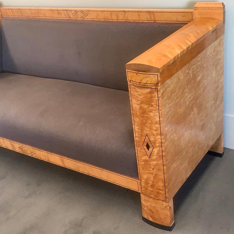 Astonishing Art Deco Biedermeier Inlaid Three Seat Sofa Pabps2019 Chair Design Images Pabps2019Com