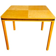 Art Deco Biedermeier Square Gaming Dining Table Swedish, Early 20th Century 95cm