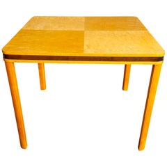 Art Deco Biedermeier Swedish Square Gaming Dining Table, Early 20th Century