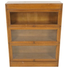 "Art Deco ""Binns"" Oak 3-Tier Sectional Stacking Bookcase, Scotland 1930, B1941"