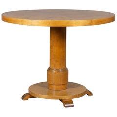 Art Deco Birch Pilar Table