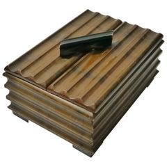 Art Deco Birch Wood Box, Sweden, 1930s