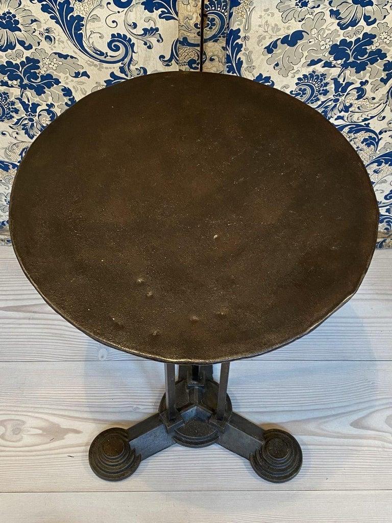 Cast Art Deco Bistro/Café Table, France