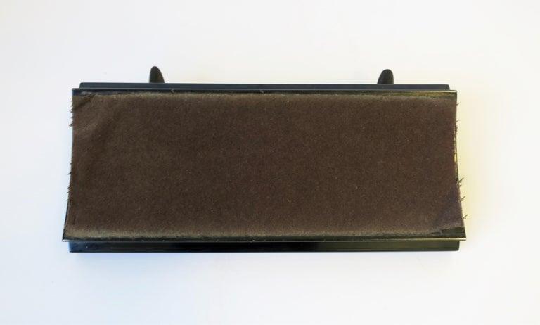 Art Deco Black and Gold Desk Pen Holder For Sale 3