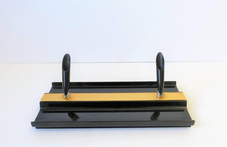 Art Deco Black and Gold Desk Pen Holder For Sale 1