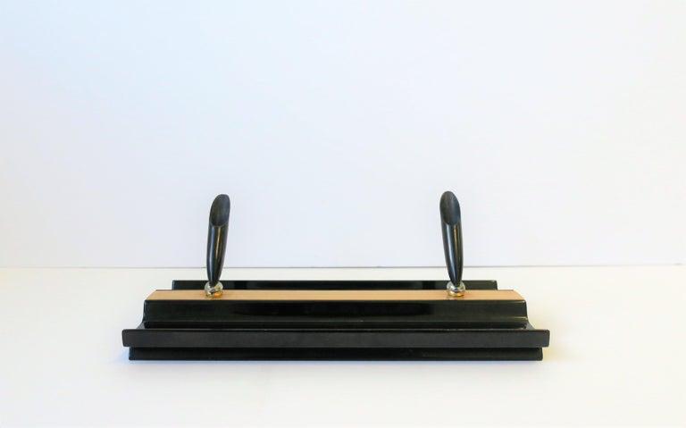 Art Deco Black and Gold Desk Pen Holder For Sale 2