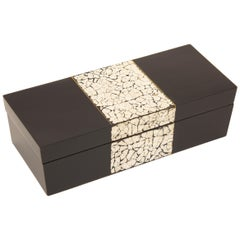 Art Deco Black Lacquer and Coquille D'oeuf Box