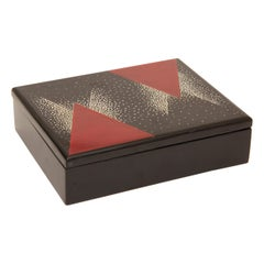 Art Deco Black & Red Box with Coquille D'oeuf in the Manner of Rene Chauvot