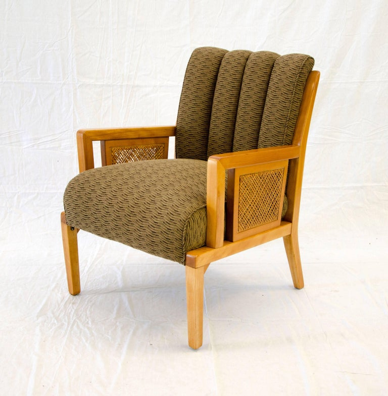 Art Deco Blond Lounge Occasional Chair Heywood