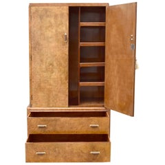 Art Deco Blonde Walnut Tallboy, circa 1930