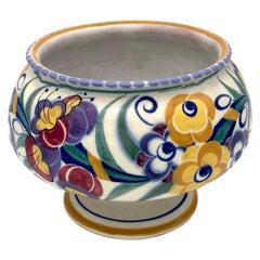Art Deco Bloombury Taste Poole Studio Pottery Vase Signed Carter Stabler Adams