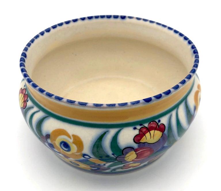 European Art Deco Bloomsbury Style Poole Studio Pottery Vase Carter Stabler Adams For Sale