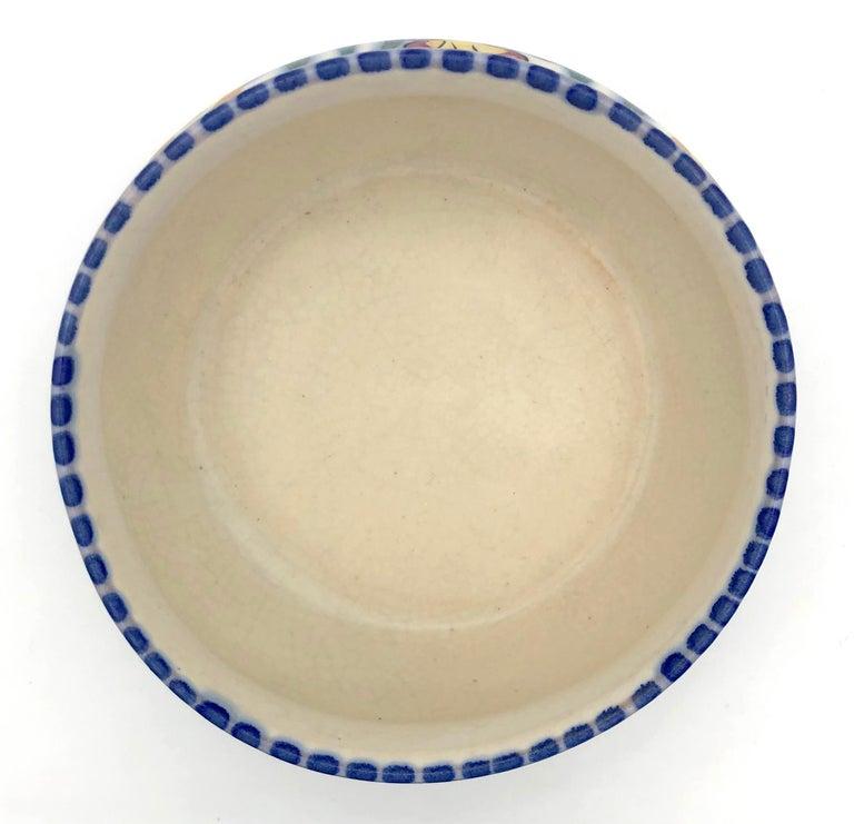 Art Deco Bloomsbury Style Poole Studio Pottery Vase Carter Stabler Adams In Good Condition For Sale In Munich, DE