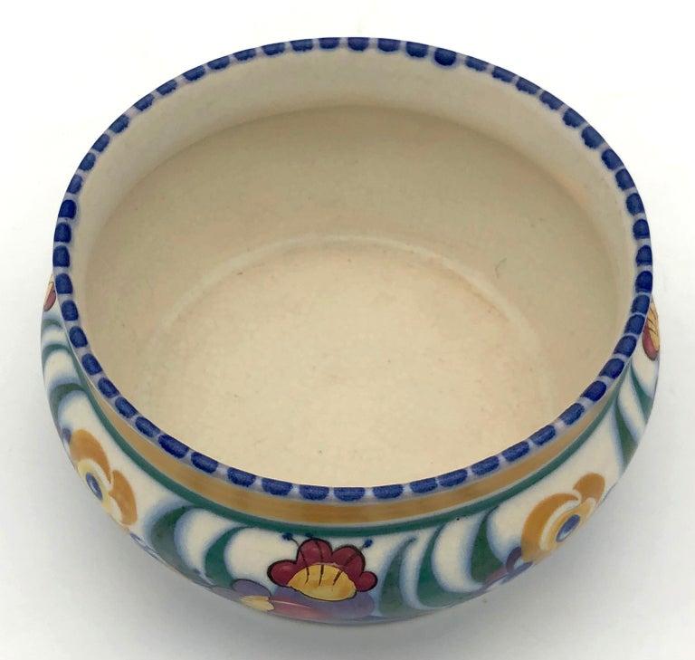 Ceramic Art Deco Bloomsbury Style Poole Studio Pottery Vase Carter Stabler Adams For Sale