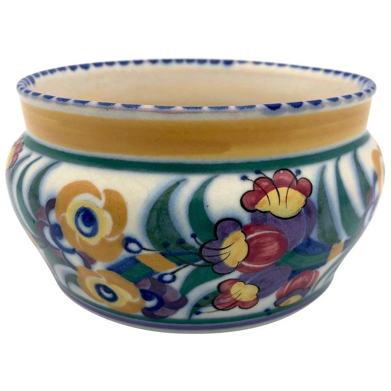 Art Deco Bloomsbury Style Poole Studio Pottery Vase Carter Stabler Adams For Sale