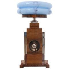 Art Deco Blue Table Lamp