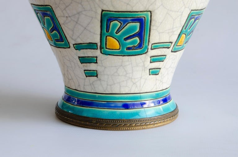 Belgian Art Deco Boch Vase Design by Charles Catteau For Sale