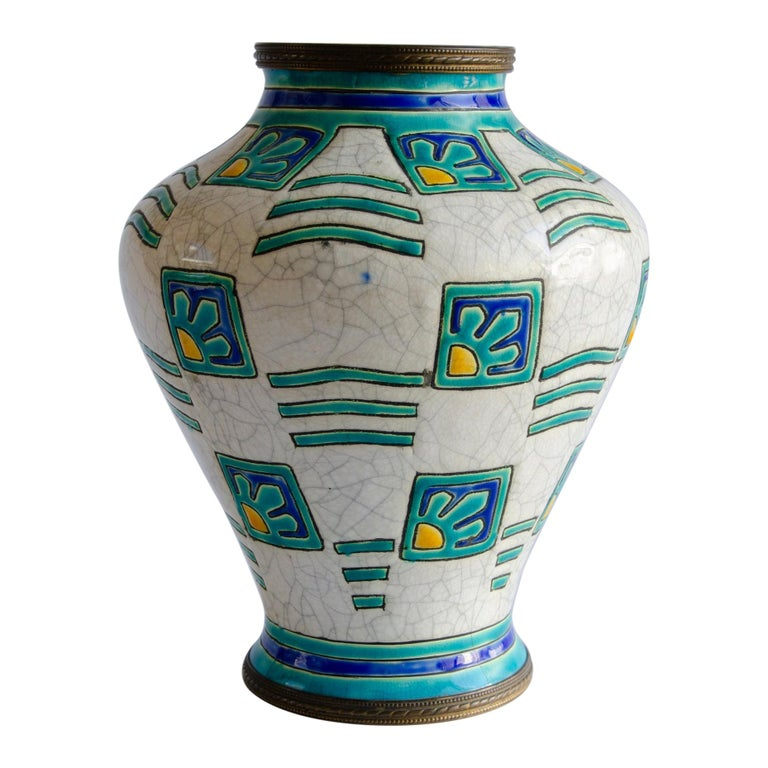Art Deco Boch Vase Design by Charles Catteau For Sale