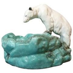 Art Deco Bohemian Ditmar Urbach Pottery Polar Bear Bowl Videpoche