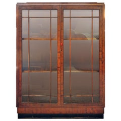 Art Deco Bookcase or Display Cabinet in Mahogany