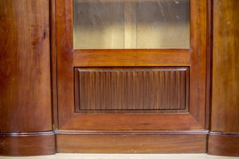 Art Deco Bookcase Veneered with Mahogany, circa 1920-1930 For Sale 5
