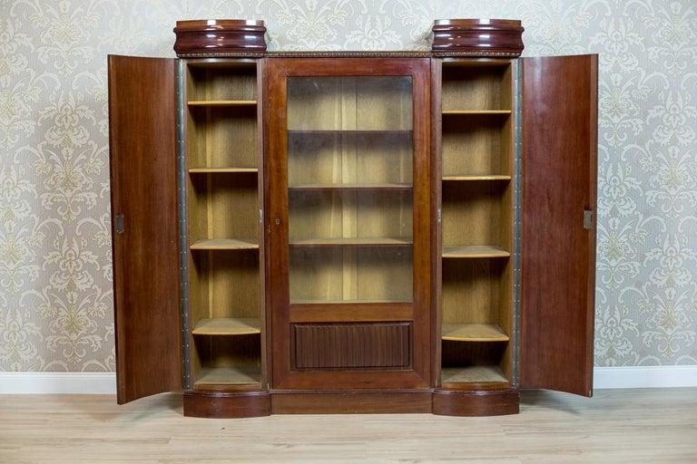 European Art Deco Bookcase Veneered with Mahogany, circa 1920-1930 For Sale